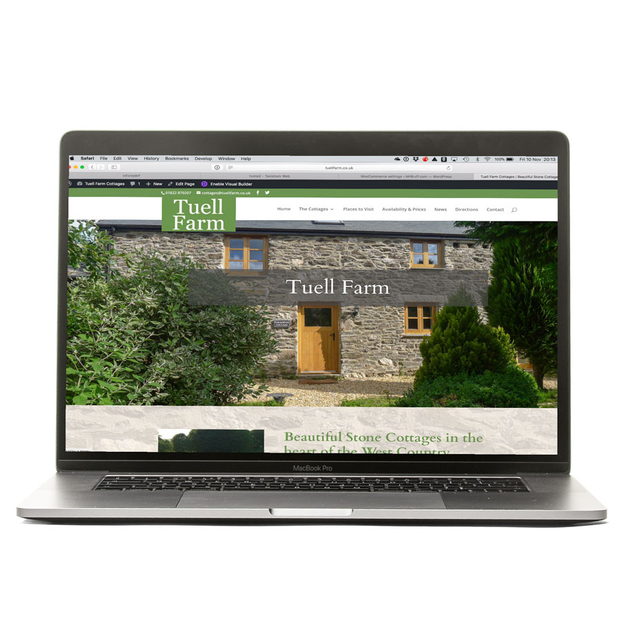 Tavistock Web laptop website